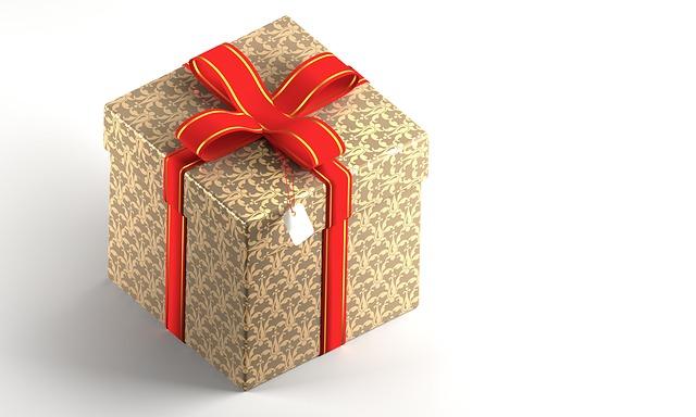 dárek v krabici