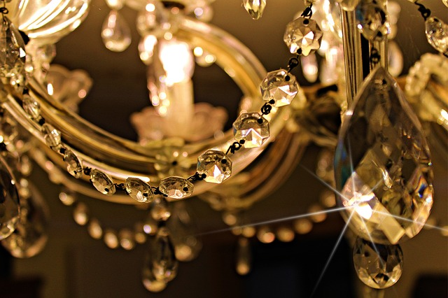 dekorace z křišťálového skla