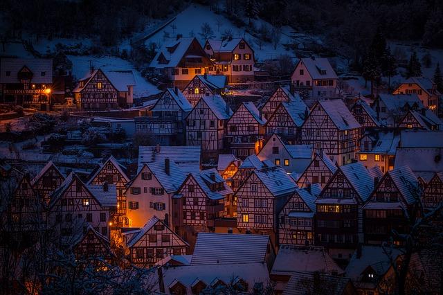 zasněžené město
