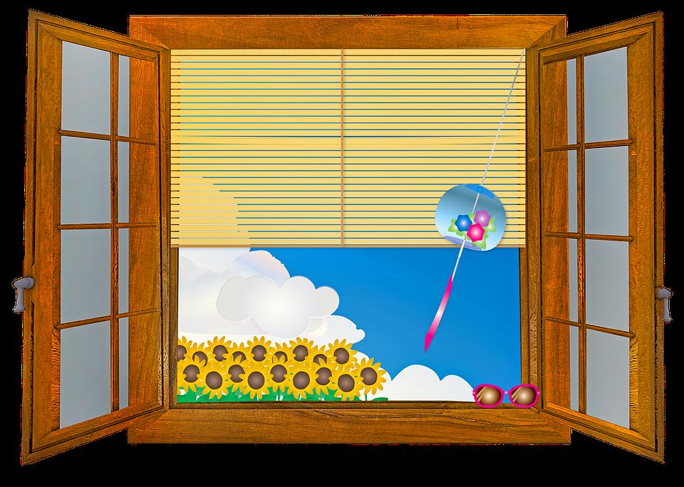 okno s roletami